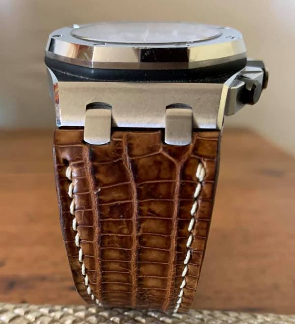 Custom Strap for Audemars Piguet Royal Oak - Vintage Dakar Lizard