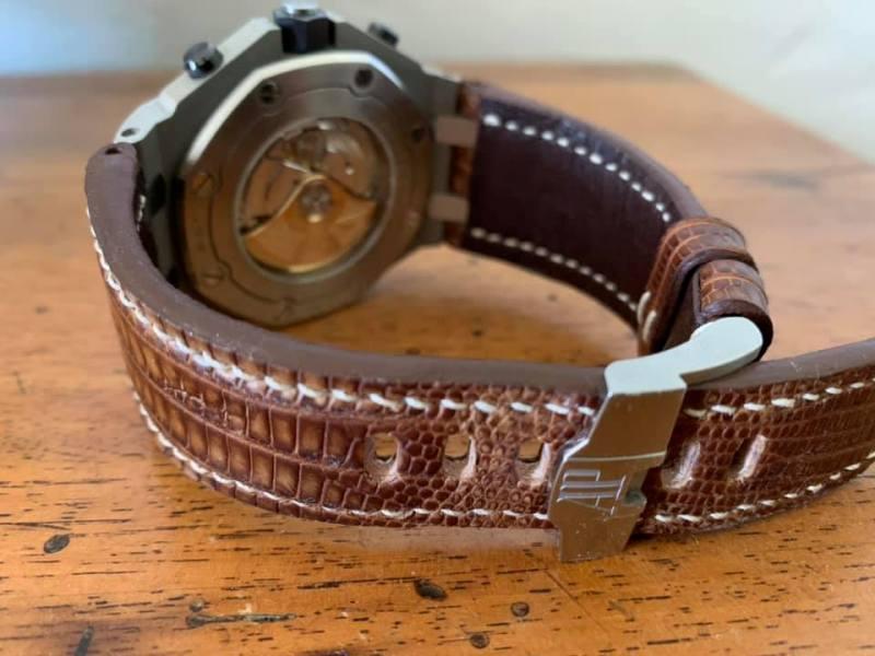 Custom Watch Strap for AP ROOS - Vintage Dakar Teju Lizard