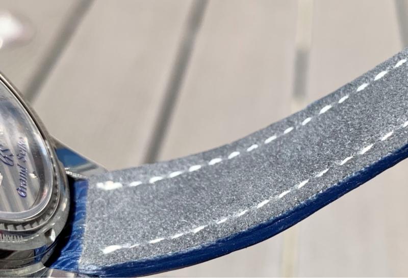 Baltic Blue SuperMatte Teju Lizard Strap for Grand Seiko Snowflake