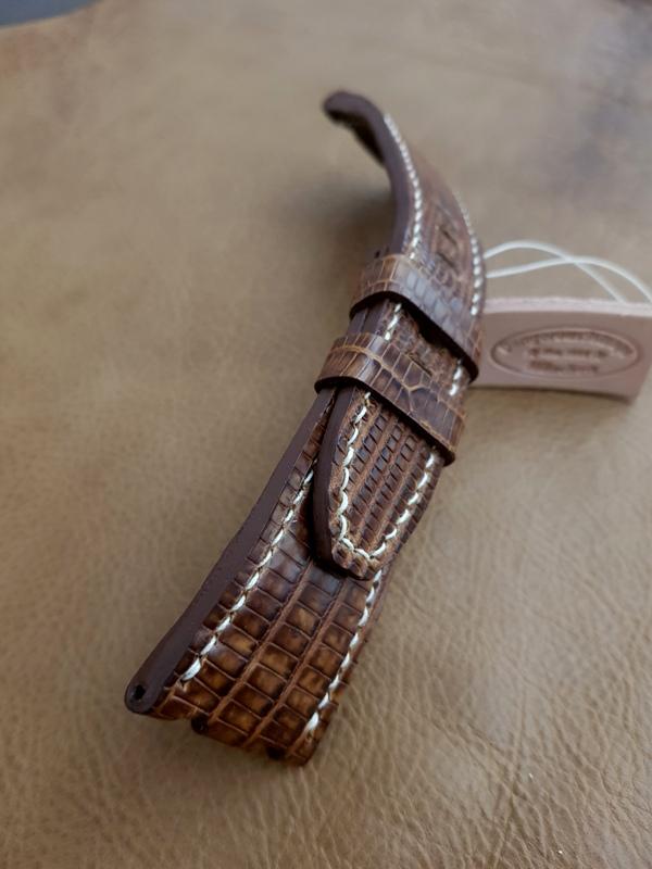 Custom Strap for Audemars Piguet Safari - Vintage Dakar Teju Lizard!