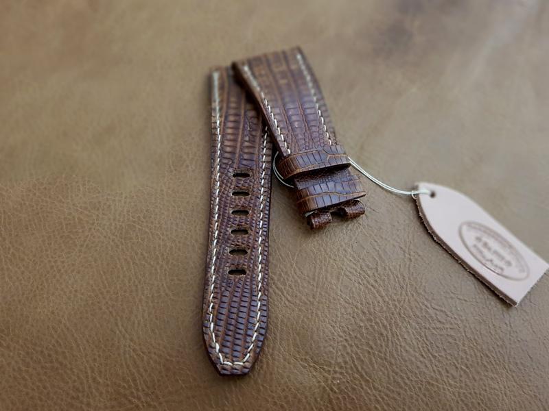 Custom Strap for Audemars Piguet ROOS 'Havan' - Vintage Dakar Teju Lizard!