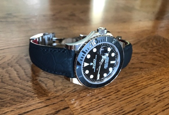 Custom watch strap for Rolex Yachtmaster 42 - SuperMatte Carbon Black