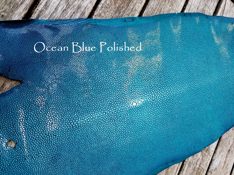 Ocean Blue Polished Stingray for your Custom Watch straps