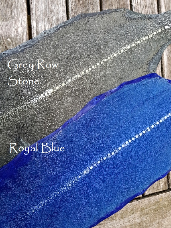 Grey Row and Royal Blue Row Stone Stingray for your Custom Watch strap
