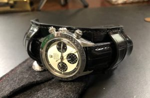 'Paul Newman' Style Alligator Bund Strap for Daytona 6263
