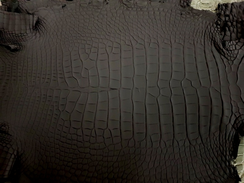 SuperMatte Carbon Black - France Croco Alligator for your Custom watch strap project