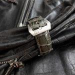 Grigio-Verde Alligator strap on PAM243