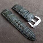 Grigio-Verde Alligator strap for Panerai