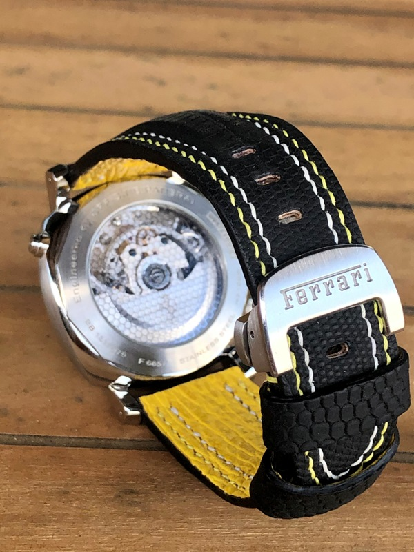 SuperMatte Teju Lizard with Double Row Stitching for Panerai Ferrari Watch