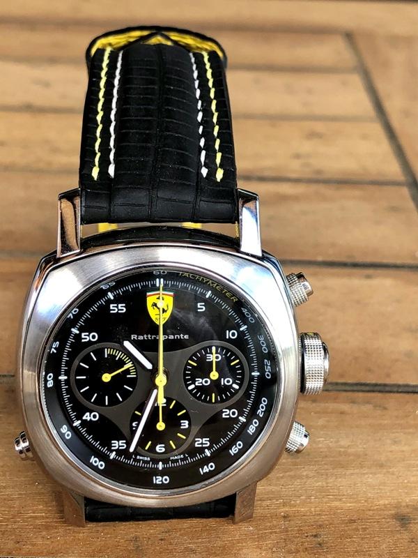 SuperMatte Teju Lizard with Double Row Stitching for Panerai Ferrari Watch