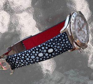 Stingray strap for Meteorite Rolex Daytona