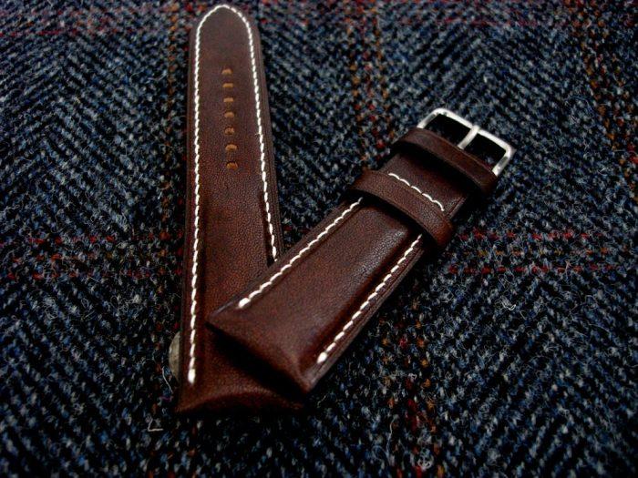 Mahagoni-Känguruleder-Uhrarmband-22/20mm