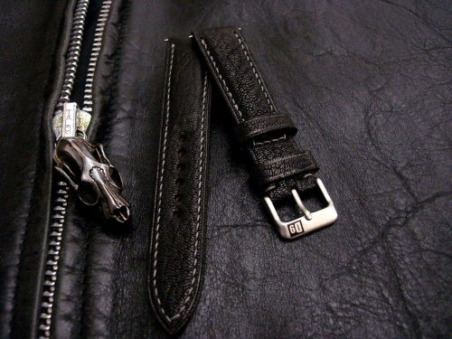 Jurassic Black-Goat-leather-watch-strap-from-our-Safari-leather-Collection