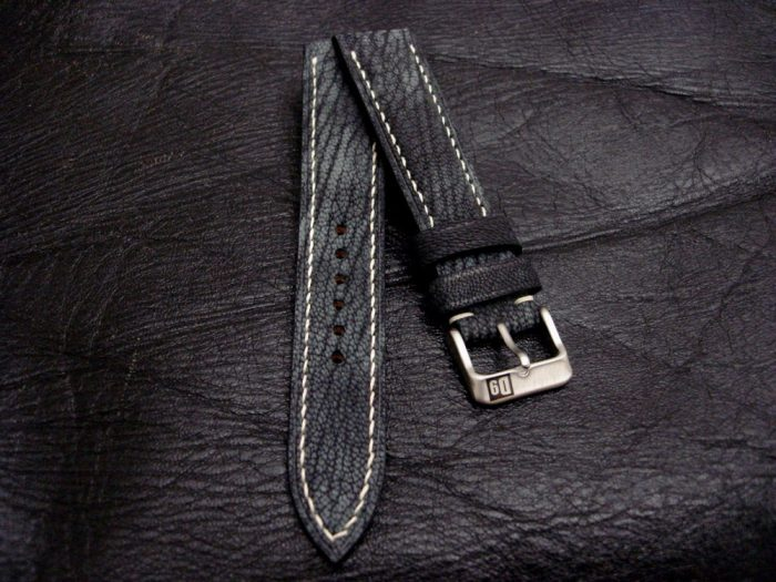 Dirty-Denim-watch-strap – Safari-Goat-Leather-Collection-20mm-lug-width