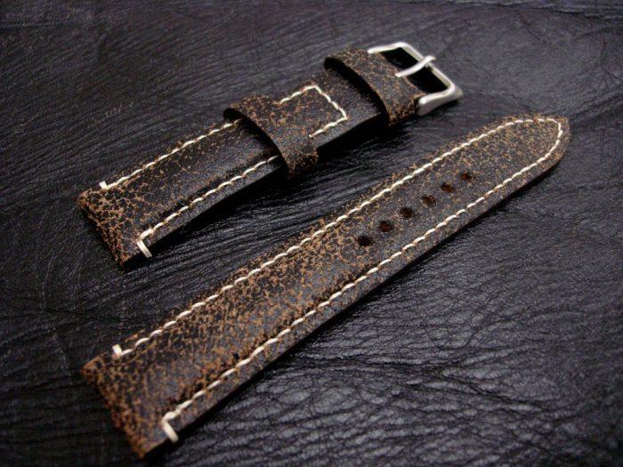 Black-Super-Distressed-Crackle-finish-watch-strap-for-lug-width-20mm-1