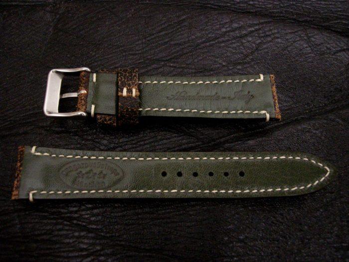 Black-Super-Distressed-Crackle-finish-watch-strap-for-lug-width-20mm-2