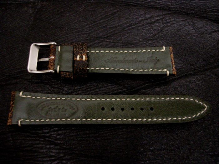 Black-Super-Distressed-Crackle-finish-watch-strap-for-lug-width-20mm-2