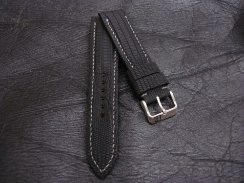 SuperMatte-Watch-Strap-Black-Teju-Lizard-22/20mm