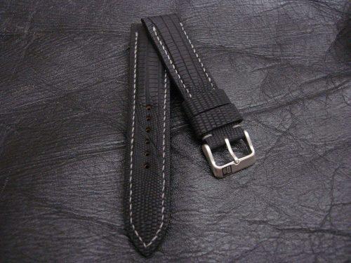 SuperMatte-Watch-Strap-Black-Teju-Lizard-22/20mm