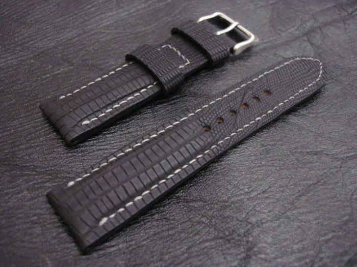 SuperMatte-Watch-Strap-Black-Teju-Lizard-22/20mm-1