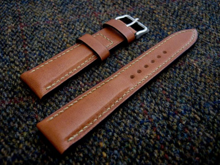 Incas-Tan-Kangaroo-watch-strap-for-20mm-lug-width-2