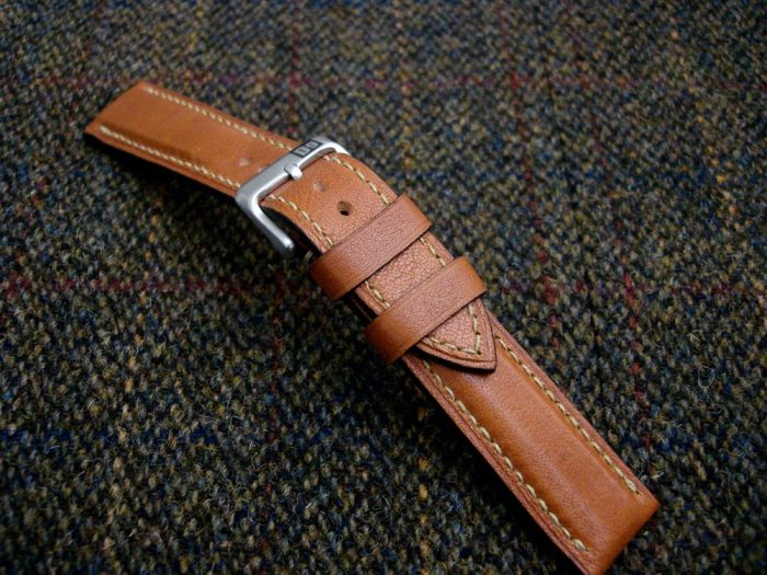 Incas-Tan-Kangaroo-watch-strap-for-20mm-lug-width-4