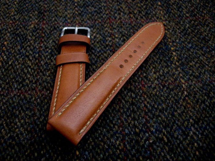 Incas-Tan-Kangaroo-watch-strap-for-20mm-lug-width 1