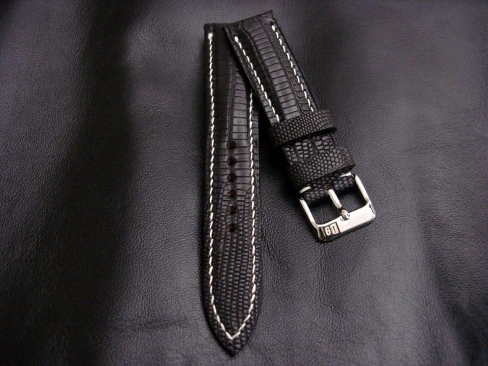 Racing-Black -Teju-Lizard-watch-strap-for 20mm-lug-width