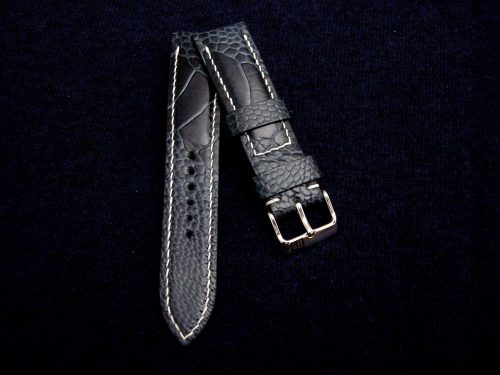 Monaco-Blue-watch-strap-Ostrich-Leg-skin-for-22mm-lug-width