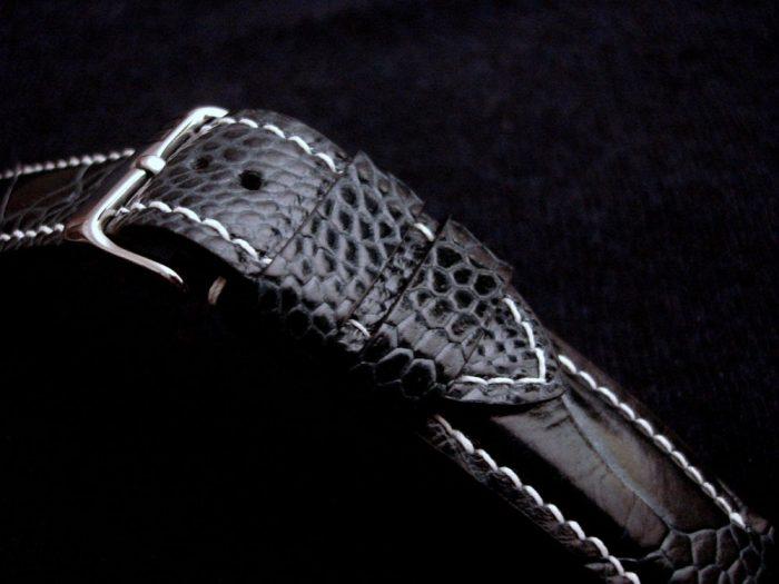 -Blue-watch-strap-Ostrich-Leg-skin-for-22/20mm-lug-width-2