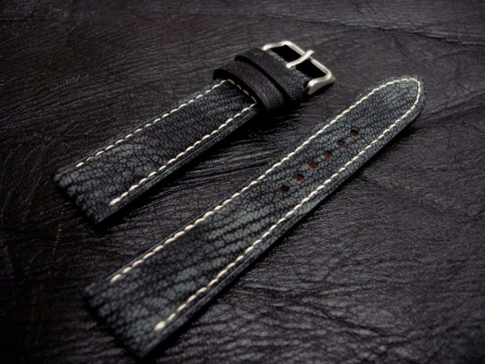 Dirty-Denim-watc-strap-Safari-Goat-Leather-Collection-20mm-lug-width-1