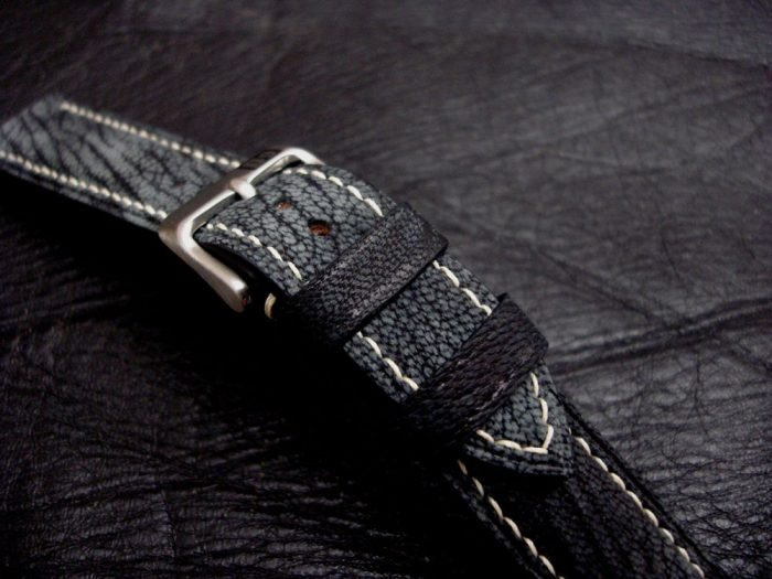 Dirty-Denim-watc-strap-Safari-Goat-Leather-Collection-20mm-lug-width-4