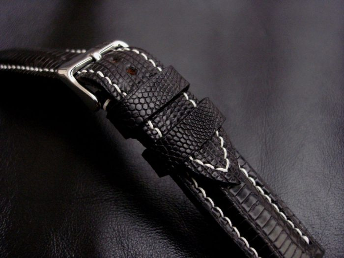 Racing-Black -Teju-Lizard-watch-strap-for 20mm-lug-width 2