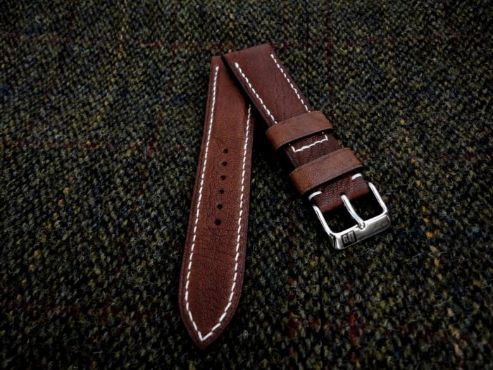 Safari-Tan- African-Goat-Leather-watch-strap- for-22mm-lug-width