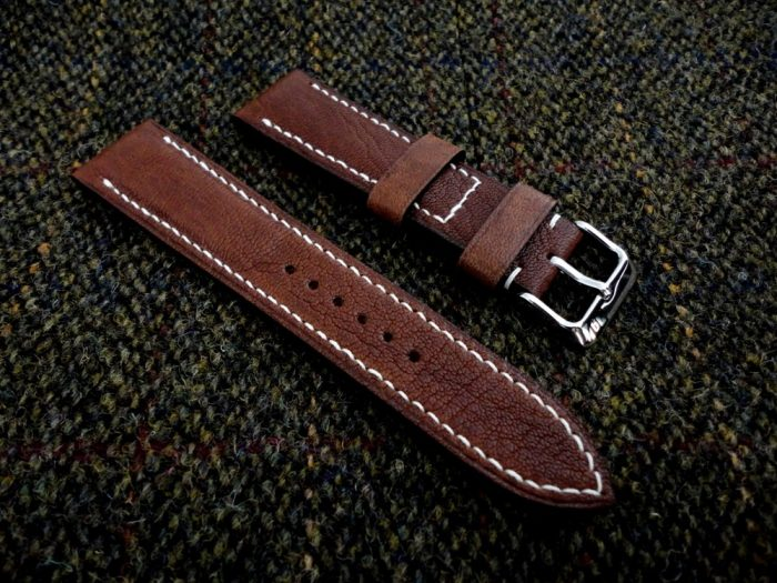 Safari-Tan-African-Goat-Leather-watch-strap-for-22mm-lug-