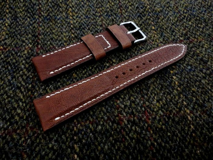 Safari-Tan-African-Goat-Leather-watch-strap-for-22mm-lug-width-3
