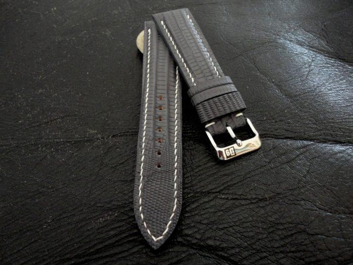 SuperMatte-Grey-Teju-Lizard-watch-strap