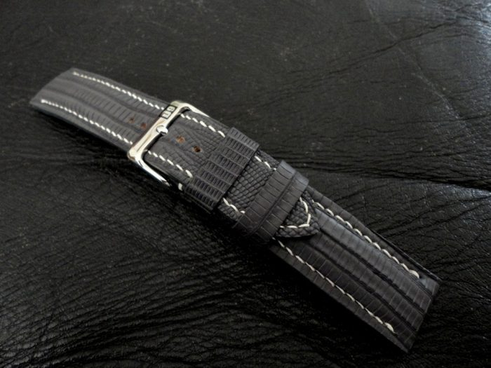 SuperMatte-Grey-Teju-Lizard-watch-strap-4