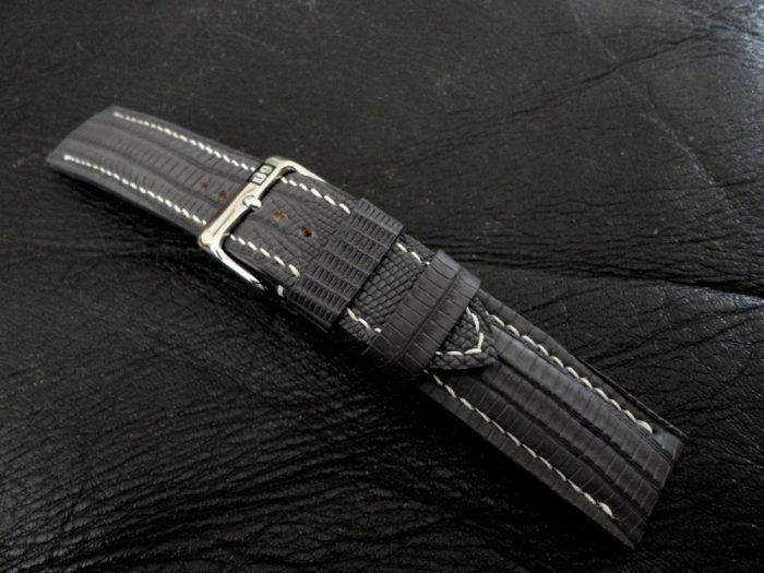 SuperMatte-Grey-Teju-Lizard-watch-strap-4