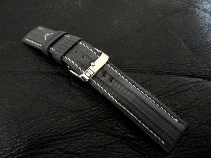 SuperMatte-Grey-Teju-Lizard-watch-strap-8