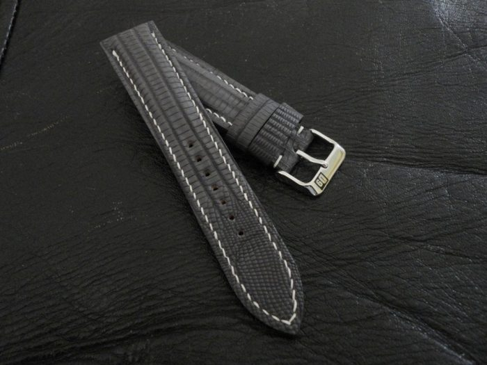SuperMatte-Grey-Teju-Lizard-watch-strap 2