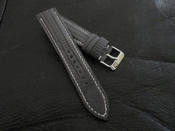 SuperMatte-Grey-Teju-Lizard-watch-strap 2