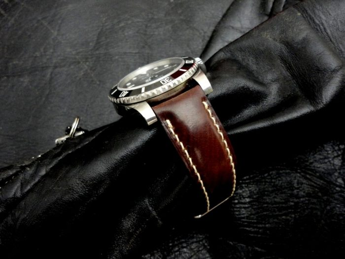 Espresso Brown-Cordovan-Shell- watch-strap 7