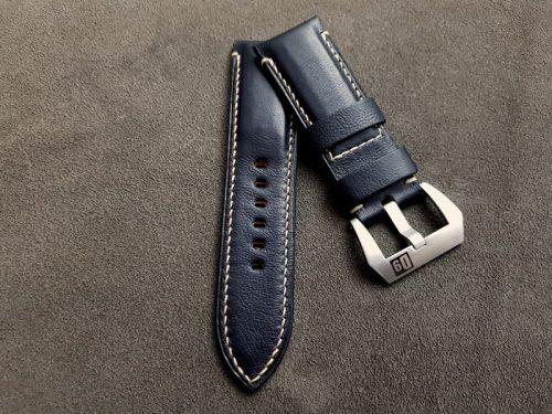 Black Incas Kangaroo Leather Watch Strap